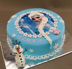 Torta Frozen s jedlým obrázkom