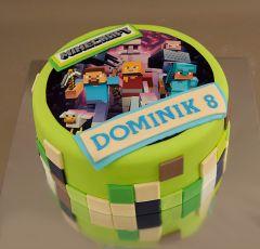 Torta s jedlým obrázkom Minecraft