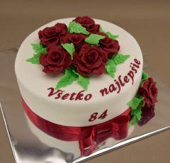 Narodeninová torta s ružami