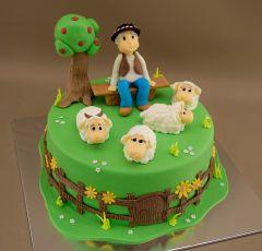 Torta s pastierom a ovcami