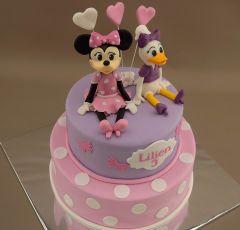 Torta s modelmi Minnie a Daisy
