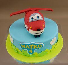 Torta s modelovaným vrtulníkom