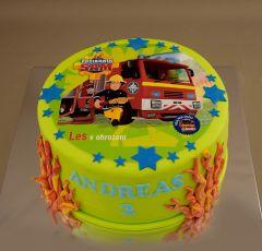 Torta Požiarnik Sam