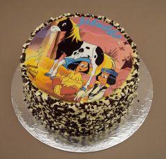 Torta s indiánom
