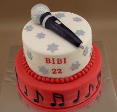 Torta s mikrofonom