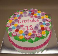Torta ploché kvety