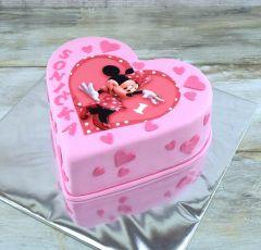 Torta Minnie srdce