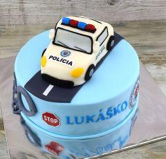 Torta s Policajným autom