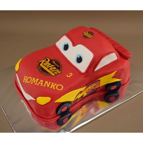 Najnovšie torty » Torta Narodeninovová torta 3D model Mc Queen