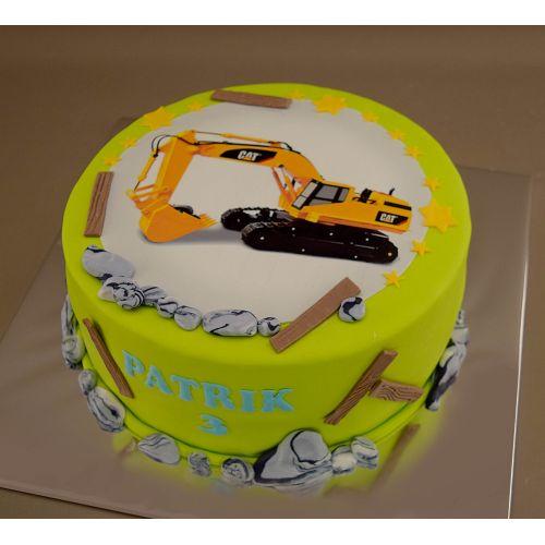 Najnovšie torty » Torta Narodeninová torta s bagrom