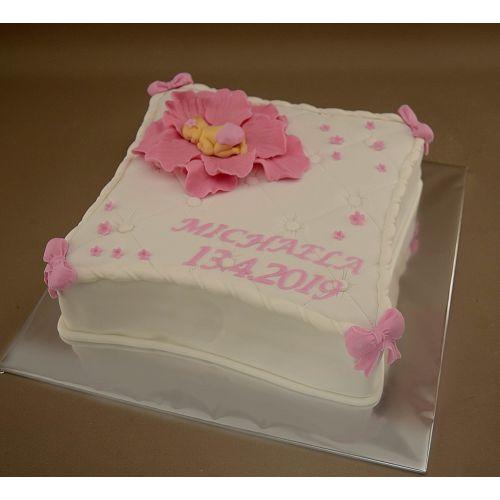 Najnovšie torty » Torta Krstinová torta vankúš