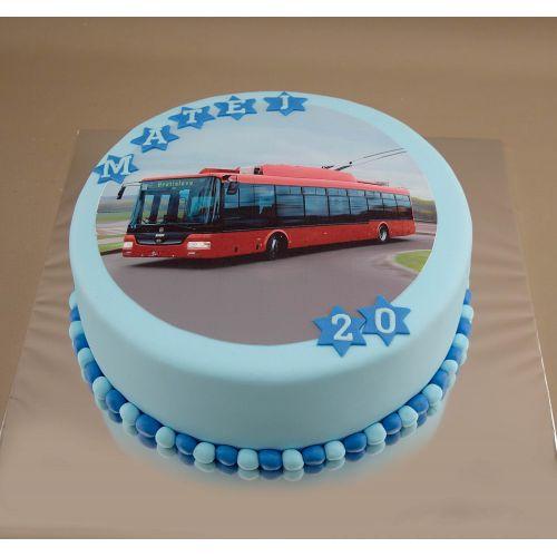 Najnovšie torty » Torta Narodeninová torta trolejbus
