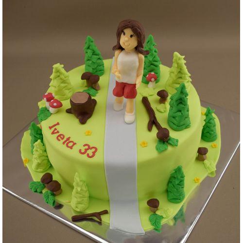 Najnovšie torty » Torta Narodeninová bežecká torta