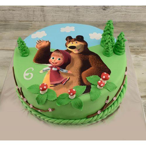 Najnovšie torty » Torta Narodeninová torta Máša a medveď