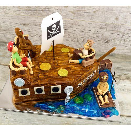 Najnovšie torty » Torta Narodeninová torta pirátska loď