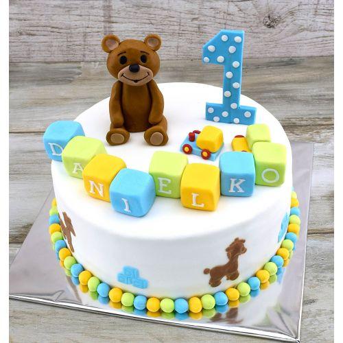 Najnovšie torty » Torta Narodeninová torta s macíkom