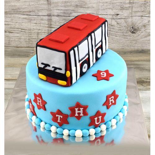 Najnovšie torty » Torta Narodeninová torta s autobusom
