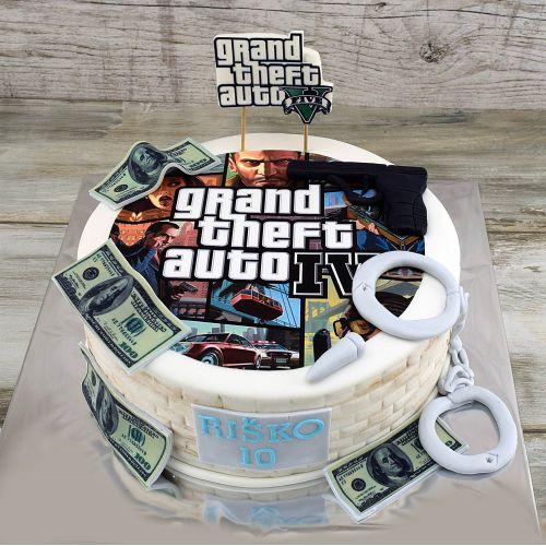 Najnovšie torty » Torta Narodeninová torta GTA