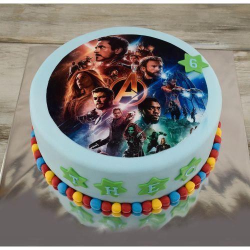 Najnovšie torty » Torta Narodeninová torta Avengers