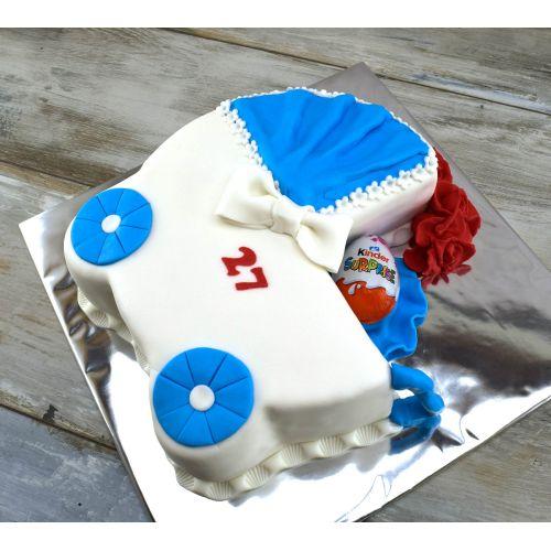 Najnovšie torty » Torta Narodeninová torta kočiar